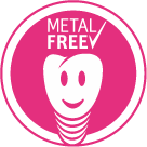 Logo ZERAMEX® metal-free  - white tooth is laughing